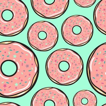 Бесшовные модели. малиновые пончики