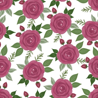 Seamless pattern of red roses for fabric design