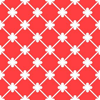 Seamless pattern red spanish ornamental ceramic tile