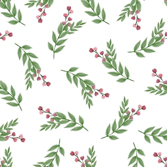Seamless pattern of red wild flower for fabric and background design