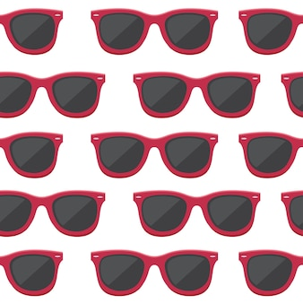 Seamless pattern of retro sunglasses