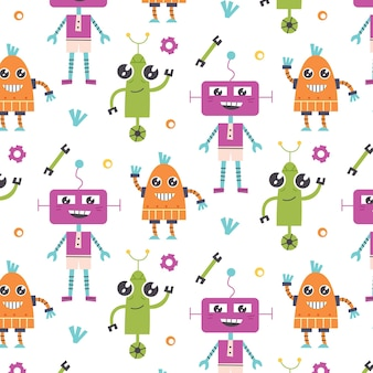 Seamless pattern robots tools