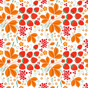 Seamless pattern in russian folk style