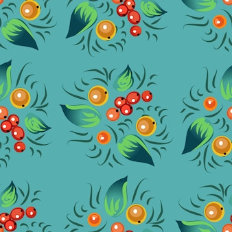 Seamless pattern in russian traditional style.