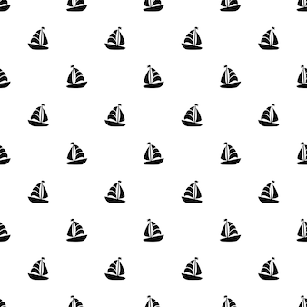 Seamless pattern sailing boat