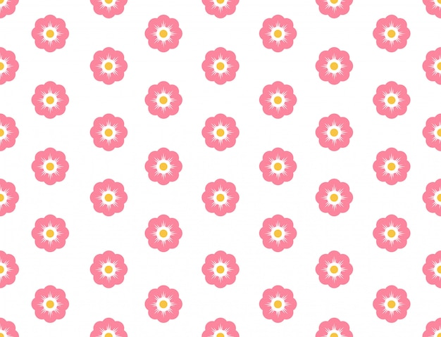 Seamless pattern sakura flower