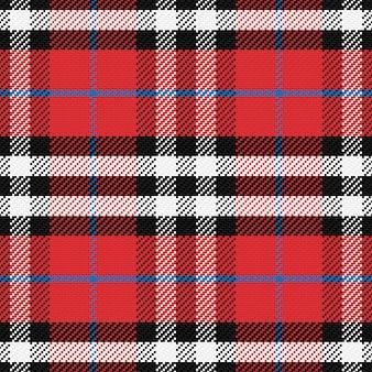 원활한 패턴 스코틀랜드 타탄 4 프리미엄 벡터