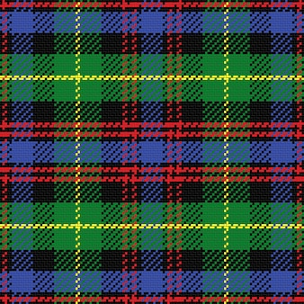 Seamless pattern scottish tartan black watch