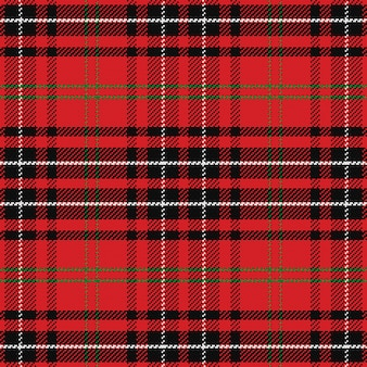 Seamless pattern scottish tartan black