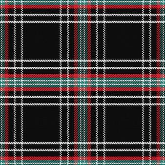 Бесшовный фон черный шотландский тартан