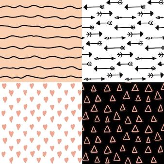 Seamless pattern set.