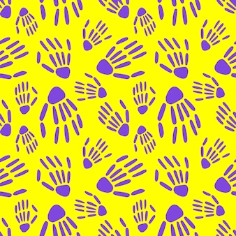 Seamless pattern of skeleton hand. bones pattern. design for halloween and day of the dead