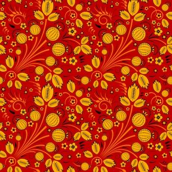 Seamless pattern in slavic folk style