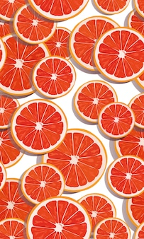 Seamless pattern slice orange fruits