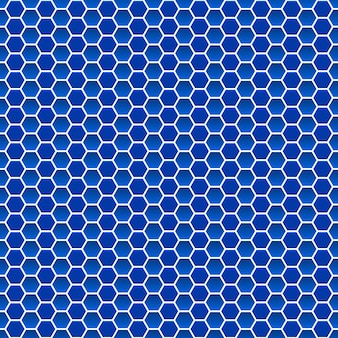 Seamless pattern of small hexagons in blue colors