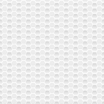 Seamless pattern of small hexagons in gray colors