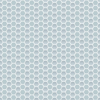 Seamless pattern of small hexagons in light blue colors