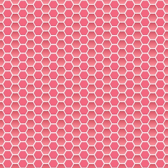 Seamless pattern of small hexagons in pink colors