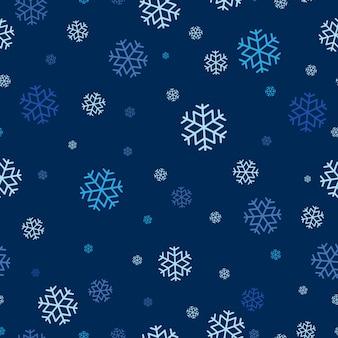 Seamless pattern of snowflake repeatable.