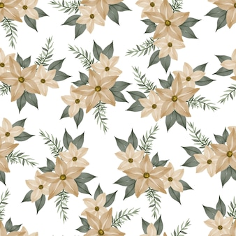 Seamless pattern of soft yellow flower for textile design