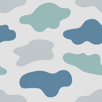 Seamless pattern of splatter shapes