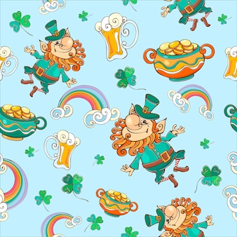 Seamless pattern for st. patrick's day.
