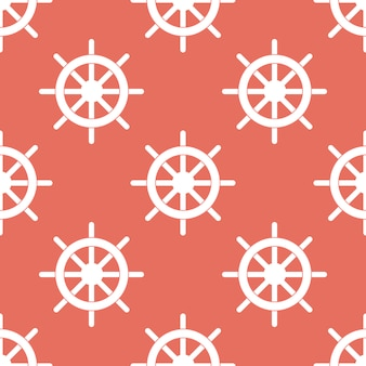 Seamless pattern steering wheel