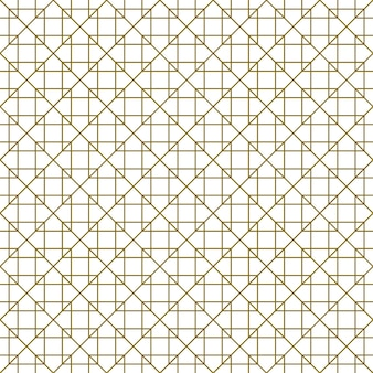 Seamless pattern in style kumiko zaiku in brown lines. average thickness.