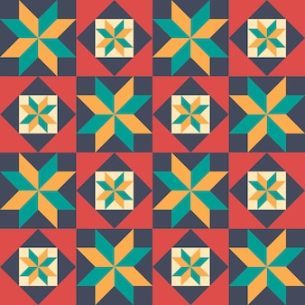 Seamless pattern in style of patchwork