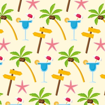 Seamless pattern. summer time holiday wallpaper