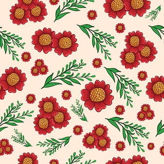 Seamless pattern sunflower