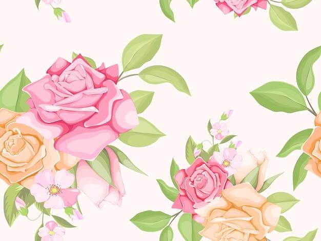 シームレスパターンテンプレート花のコンセプト