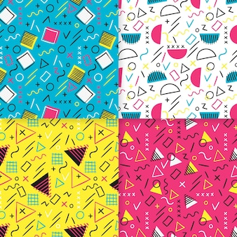Seamless pattern template memphis effect