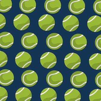 Seamless pattern tennis ball equipment blue background