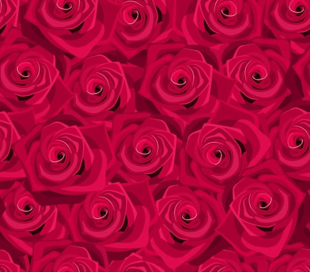Seamless pattern texture with red roses.