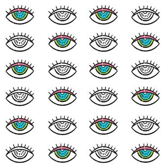 Seamless pattern of the third eye.