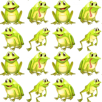 Seamless pattern tile cartoon with frogs