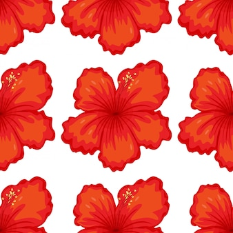 Seamless pattern tile cartoon with tiger lily