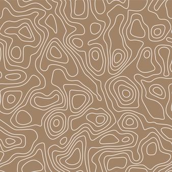 Seamless pattern in topographic map style. abstract  vector wallpaper.