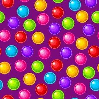Seamless pattern toy balls colorful sensory antistress toy for fidget pop it