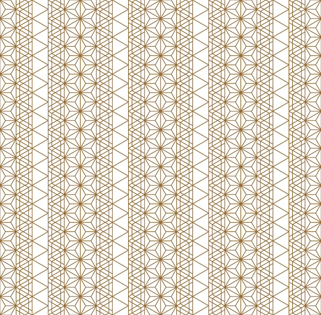 Seamless pattern traditional japanese geometric ornament .golden color lines.