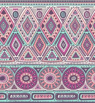 Seamless pattern for tribal design. ethnic motif