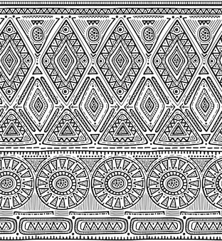 Seamless pattern for tribal design