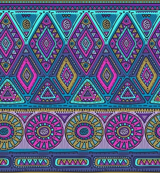 Seamless pattern for tribal design