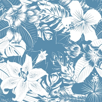 Seamless pattern tropical abstract background.