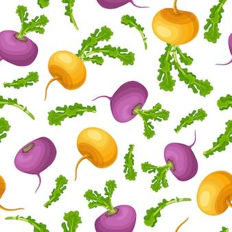 Seamless pattern of turnip.