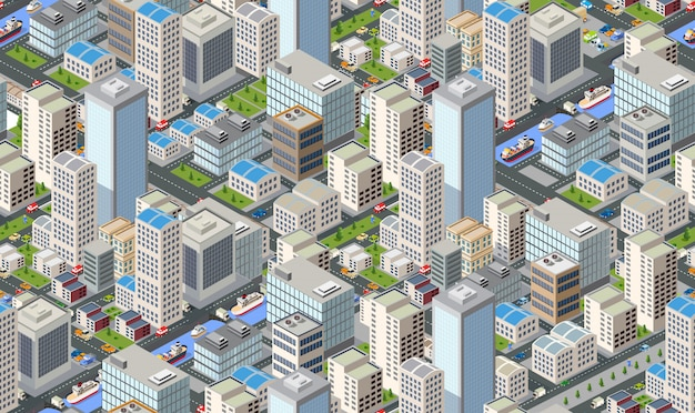 Seamless pattern urban plan