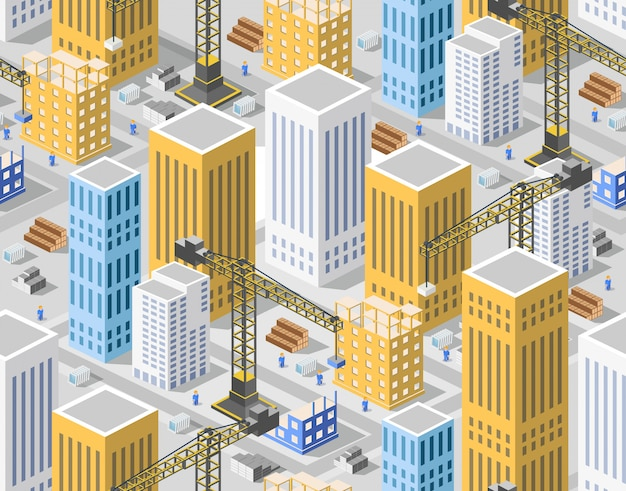 Seamless pattern urban plan