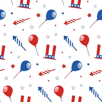 Seamless pattern for usa independence day.