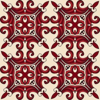シームレスなパターンベクトルタイル張りの幾何学的抽象。 chriamasギフト包装デザイン